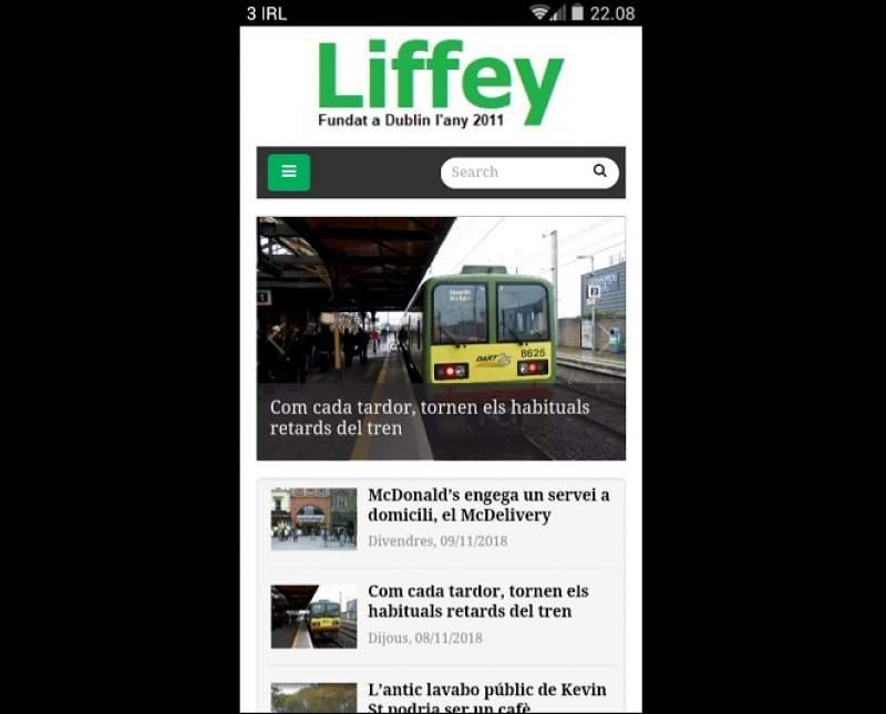 El Liffey estrena web adaptable a tots els dispositius
