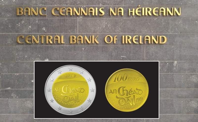 Nova moneda de 2 euros commemorant el primer Dáil