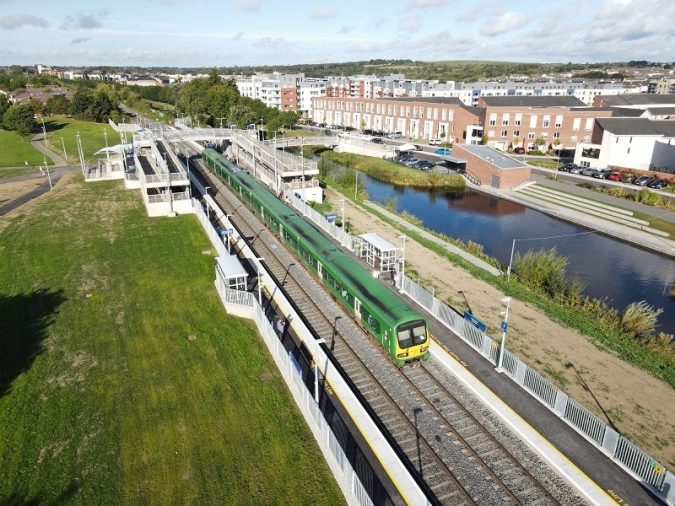 Pelletstown, the newest station on the Irish Rail network
