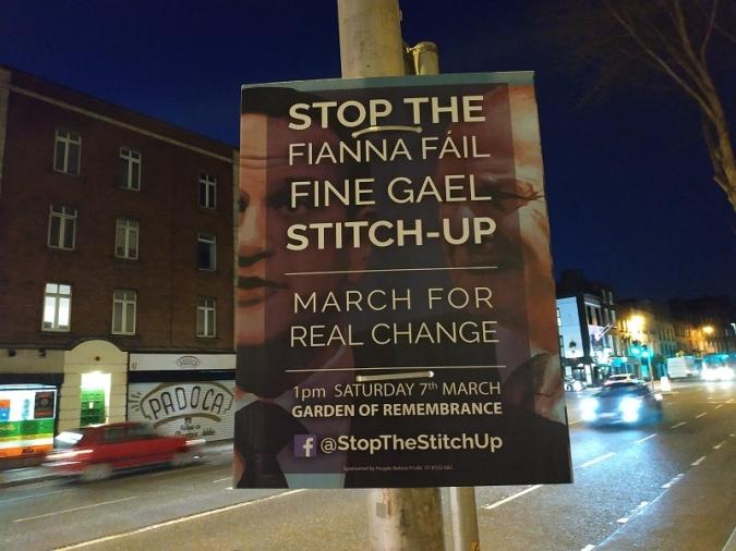 Qui no arrisca, no pisca, tret del Fine Gael i el Fianna Fáil