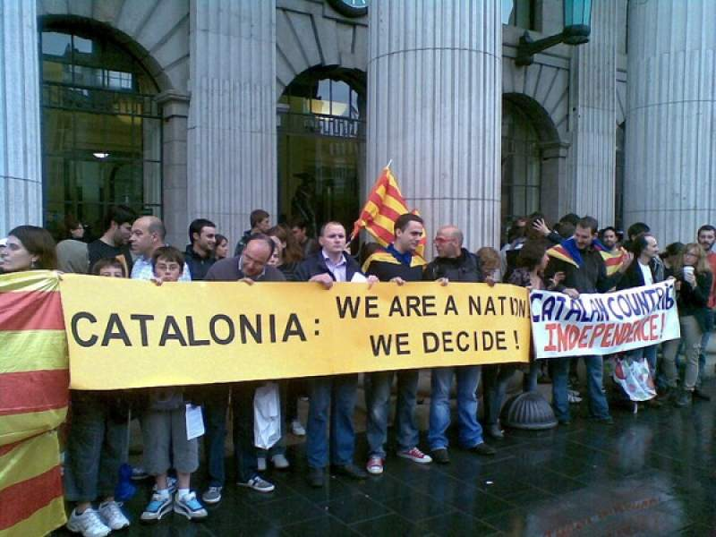 Demonstration for Catalan independence at the GPO