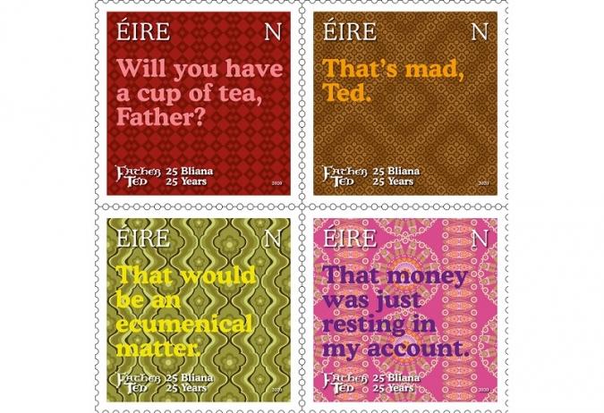 An Post emet quatre segells pels 25 anys de Father Ted