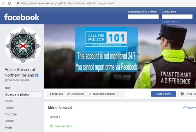 La política de continguts de FB no perdona ni el PSNI