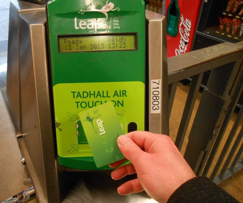 Irish Rail recomana una Leap Card a McGregor pare