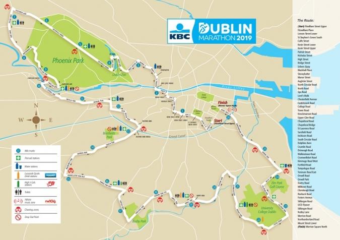 Els corredors a la Marató de Dublin hauran de tenir sort