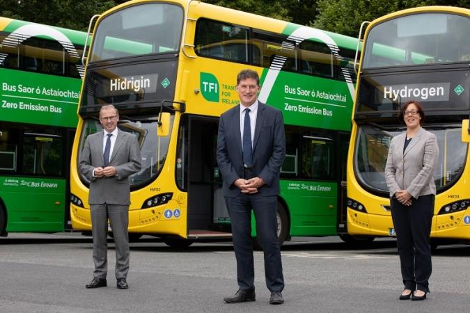 NTA and Bus Éireann unveil three new Hydrogen Buses