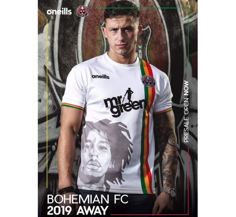 Bob Marley a la segona samarreta del Bohemian FC