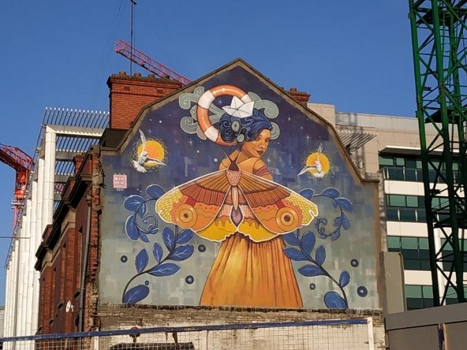 Dublin vol posar color a la reobertura amb cinc murals